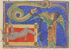 Revelation 20 Commentaire sur l'Apocalypse, c. XIII century, NAL 2290, f. 155r, Bibliothèque nationale de France.