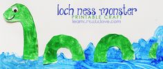 Create your very own Loch Ness Monster ! Monster Activities, Monster Crafts, Preschool Activities, Summer Camp Crafts, Camping Crafts, Burns Night Crafts, Crafts To Do, Crafts For Kids, Dinosaurs