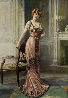 Les Modes (Paris) 1910 Robe de Diner par Doeuillet