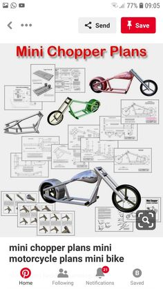 Mini Chopper Motorcycle, Motorcycle Towing, Motorcycle Design, Go Kart, Gas Powered Bicycle, Bobber Style, Bobber Bikes, T Bucket, Motorized Bicycle