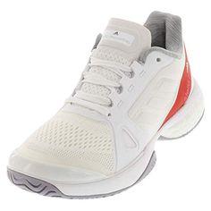 adidas Women s aSMC Barricade Boost White Dark Callistos ... adidas  Performance Women s ASMC Barricade Boost Tennis Shoe 748e4c1d2