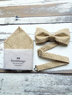 Bow Tie & Pocket Handkerchief by BartekDesign: set by BartekDesign
