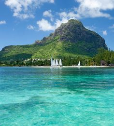 The towering Le Morne Brabant, Mauritius © Bamba Sourang - Mauritius Tourism Promotion Authority Mauritius Travel, Mauritius Island, Beautiful Islands, Beautiful Places, Most Visited Sites, National Botanical Gardens, Vacation Pictures, Island Life, Natural Wonders