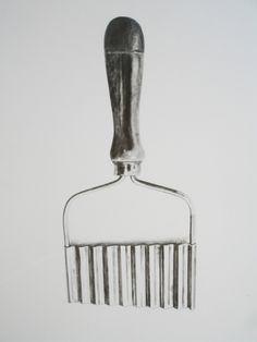 'Crinkle Cutter' - graphite on paper - Jan Brewerton
