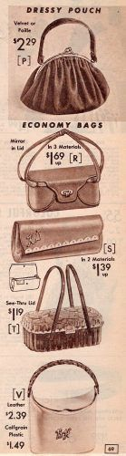 1957 Purse Styles. Aren't they fabulous?