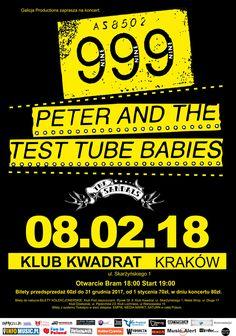 Galerie zdjęć z koncertów Peter And The Test Tube Babies i 999 w Krakowie: http://www.heavymetalandmore.pl/2018/02/999-peter-and-test-tube-babies-w.html