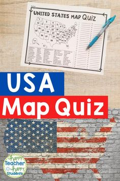 United States States Map Quiz (Test) is ready to print and go to test knowledge of the USA Map and 50 states. This map of the United States quiz includes a blank map of the United States and a USA map printable to fill in. Teach students how to locate all 50 states with this easy to read US Map Quiz & Practice Sheet! Students will learn how to correctly identify and locate all 50 states. Also includes labeled U.S.A. Map in full & half-page design. (US Map, 50 States Map, Map of the US Quiz).