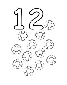 number coloring pages the number 12