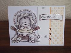 Made from Hunkydory's Smudge and Mitten and Rascal too kit. Hunky Dory, Little Books, Baby Cards, Smudging, Handmade Cards, Mittens, Cardmaking, Stamping, Scrapbooking