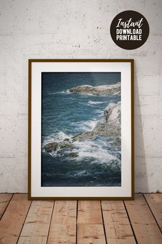 Ocean waves crashing on rocks wall art to decorate your living room, bedroom or office. Printing Services, Online Printing, Some Beautiful Images, Ocean Photos, Printable Pictures, Beautiful Ocean, Wall Decor, Wall Art, Bedroom Office