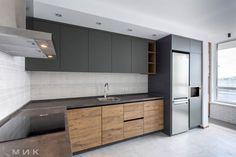 Кухня-фасад-пластик-серый-и-cleaf-1002 Kitchen Room Design, Kitchen Cabinet Design, Home Decor Kitchen, Kitchen Living, Interior Design Kitchen, Home Kitchens, Modern Kitchen Interiors, Modern Kitchen Cabinets, Contemporary Kitchen Design