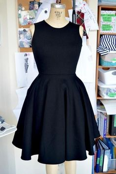 Little Black Dress Sewing Pattern. For more DIY fashion inspiration, head to http://www.sewinlove.com.au/tag/free-sewing-pattern/