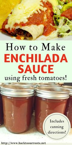 This enchilada sauce is great for either freezing or canning, and the fire-factor is whatever level you want it to be from hardly there to call Home Canning Recipes, Canning Tips, Cooking Recipes, Pressure Canning Recipes, Pressure Cooking, Tomato Canning Recipes, Canning Soup, Canning Pears, Canning Labels