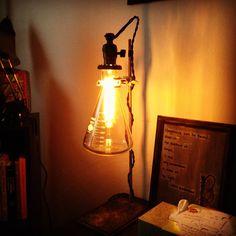 Vintage Laboratory Ringstand Lamp