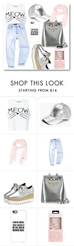 """""""Chill today"""" by eileenelizabeth ❤ liked on Polyvore featuring Miss Selfridge, Boohoo, J.Crew, Charlotte Olympia and Casetify"""