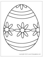 Large Easter Egg template 4
