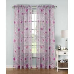 Window Elements Pamela Printed Sheer Extra-wide Rod Pocket Curtain Panel - 54 x 84 (Coral (Pink) - Single Panel) (Polyester, Floral) Extra Wide Curtains, Cool Curtains, Rod Pocket Curtains, Colorful Curtains, Sheer Curtain Panels, Grommet Curtains, Sheer Curtains, Panel Curtains, Window Panels