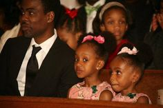 Chris Rock and his daughters...