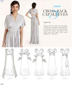 Versa Convertible Infinity Bridesmaid Dress In Lustrous Jersey Tutorial