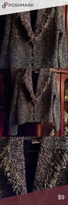 super cute sweater jacket!!! Very classy/boho. XL but I wore it even as a small, just oversized!!! Perfect for Fall or layered in Winter! ☃ Jackets & Coats Blazers