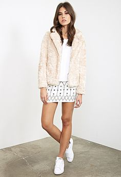 Boxy Faux Fur Jacket | FOREVER21 - 2000120798 taupe