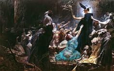 Adolf Hirémy-Hirschl - The Souls of Acheron 1898