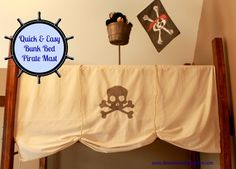 Quick & Easy Bunk Bed Pirate Mast