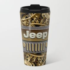 Steampunk Jeep with Gear machines METAL TRAVEL MUG #mug #metaltravelmug #metal #fall #autumn #christmas #abstract #car #jeep #jeep #wrangler #jeeplogo #steelpicture #landrover #gear #machines