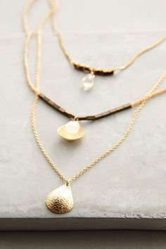 Halfshell Layered Necklace - anthropologie.com #anthrofave