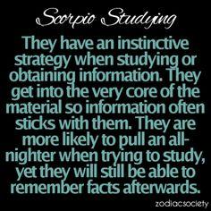 Scorpio in Studying