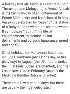 Buddhist holidays Buddhist Beliefs, Baby Buddha, Holidays, Statue, Pure Products, Life, Holidays Events, Holiday, Sculptures