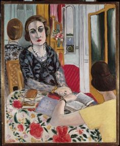 Portrait of the Baroness Gourgaud, 1924 by Henri Matisse (French Henri Matisse, Matisse Kunst, Matisse Art, Pablo Picasso, Matisse Paintings, Raoul Dufy, Reading Art, Woman Reading, Post Impressionism