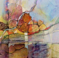 MindScape 25: acrylic/collage/colored pencil Artist: Judith Bergerson