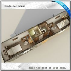 Cheap Shipping Container House Flexible Layout Design - closet on one side, with stairs going downstairs, bedroom on the other, kitchen and living and half bath down stairs, ladder up from the closet to the dungeon above it.