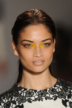Lela Rose, Spring 2013 ~ i've wanted to try yellow*eyes for some time now ~ the placement of color here is wild, like it!
