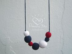 Modern Sailor Necklace Nautical Crochet Teething by AmazingDay