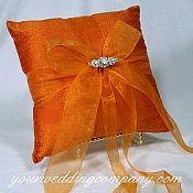 Orange Fall Wedding Ring Pillow