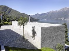 Wespi de Meuron Romeo architects, Hannes Henz · New house in Ranzo. Contemporary Architecture, Interior Architecture, Home Interior Design, Interior And Exterior, Haus Am Hang, Genius Loci, House Landscape, Stone Houses, Brick And Stone