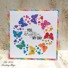 Simon Says Stamp Wednesday Challenge - Animal Magic Handmade Greetings, Greeting Cards Handmade, Hand Made Greeting Cards, Card Making Inspiration, Making Ideas, Rainbow Card, Butterfly Cards, Baby Kind, Card Kit