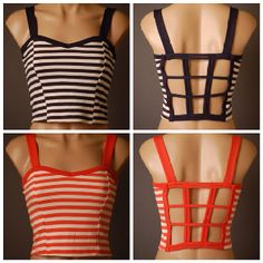 #shopkissandtell  Cropped striped tops