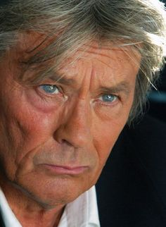 Alain Delon (wow He aged badly. Was gorgeous once upon a time in the olden days)