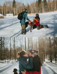 She was beyond surprised when he got on one knee, and it's the most amazing mountain proposal.