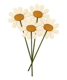 Take a look at this Daisy Flower Stick - Set of Four by Collins on #zulily today!