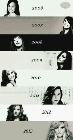 Demi through the years