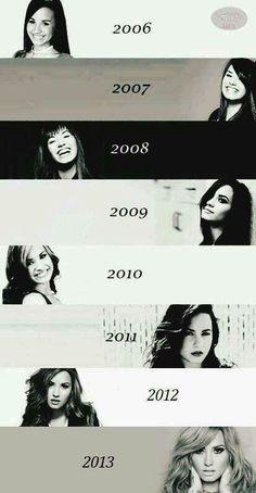 Demi through the years