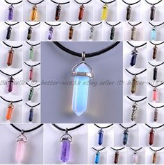 Natural Quartz Crystal Stone Point Chakra Healing Gemstone Pendants Necklace  | eBay