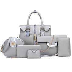 Shop now 2019 Latest Ladies Big Pu Leather Bag,Classical Set Pu Leather Bag Set - Buy Bag Set,Leather Bags,Pu Leather Bag Set Produ. Leather Purses, Leather Handbags, Pu Leather, Leather Bags, Women's Handbags, Bucket Handbags, Fendi, Gucci, Bags Travel