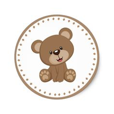Teddy Bear Birthday Favor Sticker - birthday diy gift present custom ideas Teddy Bear Birthday, Teddy Bear Party, Teddy Bear Baby Shower, Baby Shower Niño, Creative Birthday Ideas, Birthday Ideas For Her, Imprimibles Gratis Baby Shower, Birthday Favors, Birthday Gifts