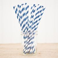 Paper Straws and other party suplies Beach Ball Birthday, Blue Stripes, Navy Blue, Lil Sweet, Kid Parties, Project Nursery, Paper Straws, Shower Ideas, Birthday Ideas