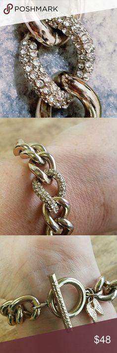 Victoria Secret Angel Bracelet VS bracelet. Dont remember when I got it, found it in my jewerly box. Of course, it's not real gold. Victoria's Secret Jewelry Bracelets